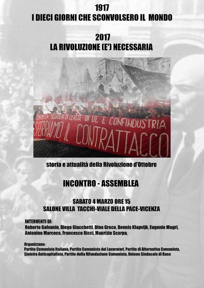 La Rivoluzione russa a Vicenza